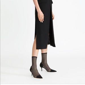 Zara heeled socked style boots